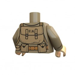 United Bricks Torso Torso WW2 Airborne 82nd LEGO Minifigure military