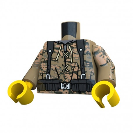 United Bricks Torso WW2 German Oak LEGO Minifigure military