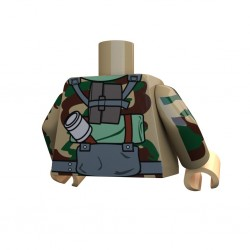 United Bricks Torso WW2 German Panzergrenadier LEGO Minifigure military