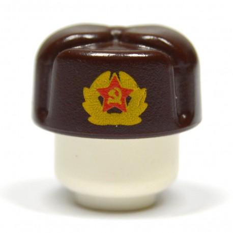 United Bricks Chapka Russe (Marron Foncé) LEGO Minifigure Militaire