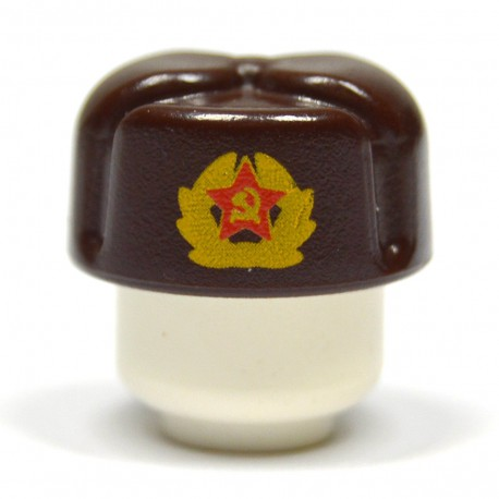 United Bricks Russian Ushanka Dark Brown LEGO Minifigure military