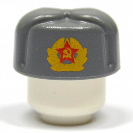 United Bricks Russian Ushanka Dark Grey LEGO Minifigure military