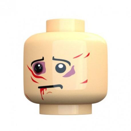 United Bricks Injured Head LEGO Minifigure military
