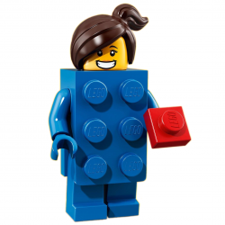 LEGO Minifig - Brick Suit Girl 71021 Series 18