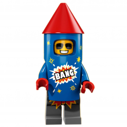 LEGO Minifig - Firework Guy 71021 Series 18