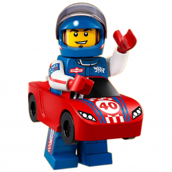 LEGO Minifig - l'homme voiture de course 71021 Série 18