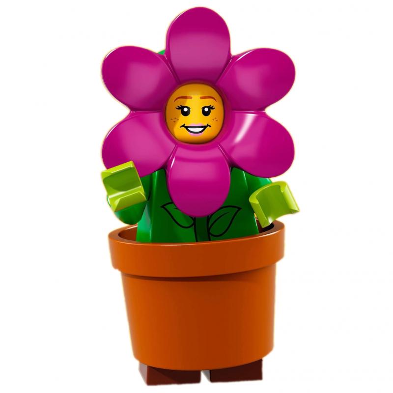 lego minifig minifigure serie 18 71021 la fille pot de fleurs. Black Bedroom Furniture Sets. Home Design Ideas
