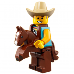 LEGO Minifig - Cowboy Costume Guy 71021 Series 18