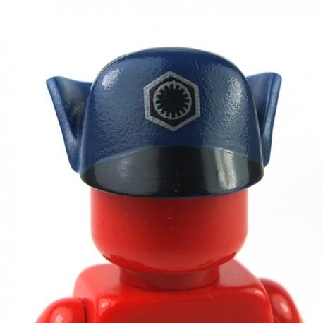 Lego - Dark Blue Minifig, Headgear Cap, SW First Order Officer, Black First Order Insignia