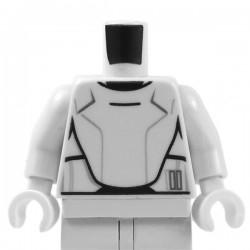 Lego - White Minifig Torso SW Armor Flametrooper Ep. 7