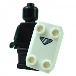 Lego - White Minifig, Shield Rectangular with Gray Triangle Viewfinder