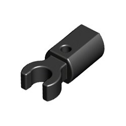 LEGO Spare Parts - Bar Holder with Clip (Black)