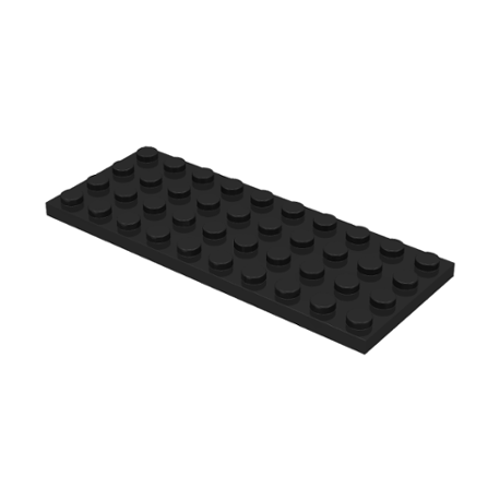 LEGO Lot of 2 Black 4x10 Plate Pieces