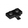 LEGO Spare Parts - Plate Modified 1x2 with Clip Horizontal on Side (Black)