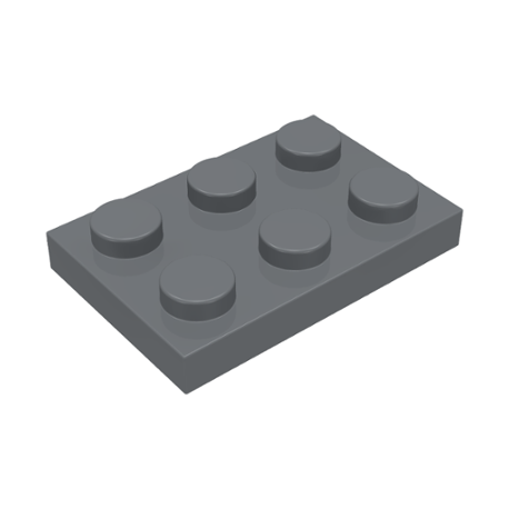LEGO Spare Parts - Plate 2x3 (DBG)