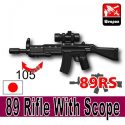 Lego Accessories Minifigure Si-Dan Toys - 89 Rifle With Scope 89RS (Black)