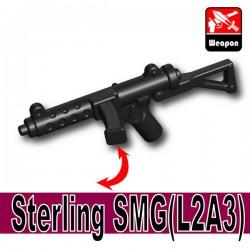Lego Accessoires Minifigure Armes Si-Dan Toys - Sterling SMG L2A3 (Noir)