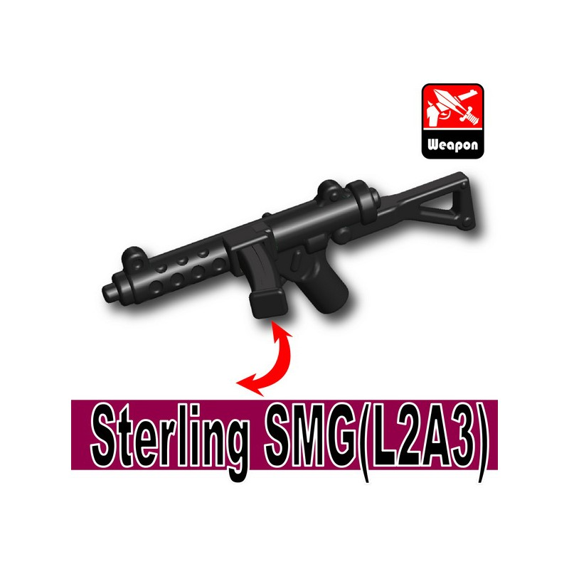 Black Brickarms APOC SMG for Lego Minifigures 5 Pack