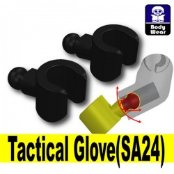 Lego Accessories Minifigure Si-Dan Toys - Tactical Gloves SA24 (Black)