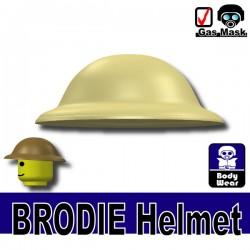 Lego Accessories Minifigure Si-Dan Toys - Si-Dan Toys - Brodie Helmet (Tan)