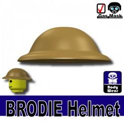 Lego Accessories Minifigure Si-Dan Toys - Si-Dan Toys - Brodie Helmet (Dark Tan)