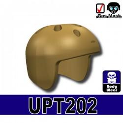 Lego Accessories Minifigure Military - Si-Dan Toys - UPT-202 Helmet (Dark Tan)