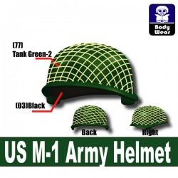 Lego Accessoires Minifigure Militaire Si-Dan Toys - Casque US M-1 Army P1 (Vert Militaire)