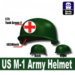 Lego Accessoires Minifigure Militaire Si-Dan Toys - Casque US M-1 Army P19 (Vert Militaire)