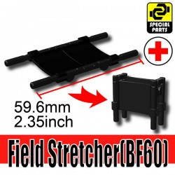 Lego Accessories Minifigure Military - Si-Dan Toys - Field Stretcher BF60 (Black)