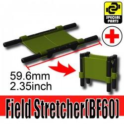Lego Accessoires Minifigure Militaire Si-Dan Toys - Civière (Vert Militaire)