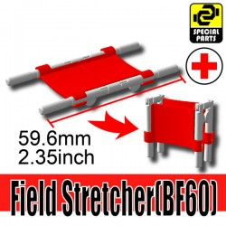 Lego Accessories Minifigure Military - Si-Dan Toys - Field Stretcher BF60 (Red)