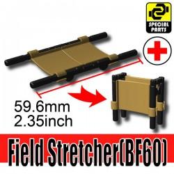 Lego Accessories Minifigure Military - Si-Dan Toys - Field Stretcher BF60 (Dark Tan)