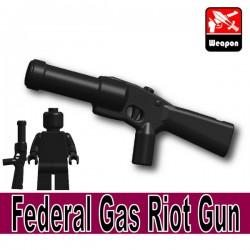 Lego Accessories Minifigure Military - Si-Dan Toys - Federal Gas Riot Gun (Black)