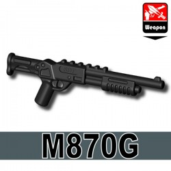 Lego Accessoires Minifigure Militaire Si-Dan Toys - M870G (Noir)