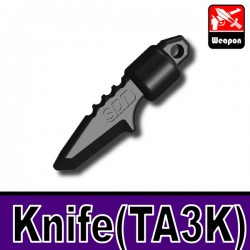 Lego Accessories Minifigure Military - Si-Dan Toys - Knife TA3K (Black)