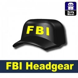 Lego Accessories Minifigure Military - Si-Dan Toys - Marine headgear FBI (Black)