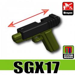 Lego Accessoires Minifigure Militaire Si-Dan Toys - SGX17 (Noir/Vert Militaire)