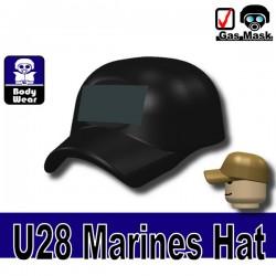 Lego Accessoires Minifigure Militaire Si-Dan Toys - Casquette Marine U28 (Noir)