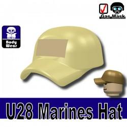 Lego Accessoires Minifigure Militaire Si-Dan Toys - Casquette Marine U28 (Beige)