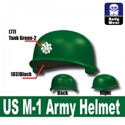 Lego Accessoires Minifigure Militaire Si-Dan Toys - Casque US M-1 Army P13 (Vert)