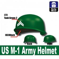 Lego Accessoires Minifigure Militaire Si-Dan Toys - Casque US M-1 Army P9 (Vert)