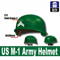 Lego Accessories Minifigure Military - Si-Dan Toys - US M-1 Army P9 Helmet (Green)