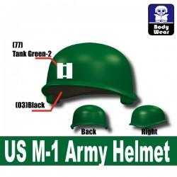 Lego Accessoires Minifigure Militaire Si-Dan Toys - Casque US M-1 Army P8 (Vert)