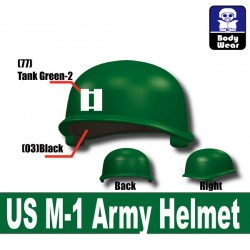 Lego Accessories Minifigure Military - Si-Dan Toys - US M-1 Army P8 Helmet (Green)
