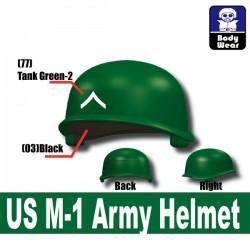 Lego Accessoires Minifigure Militaire Si-Dan Toys - Casque US M-1 Army P3 (Vert)