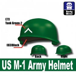 Lego Accessories Minifigure Military -Si-Dan Toys - US M-1 Army P3 Helmet (Green)