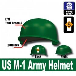 Lego Accessoires Minifigure Militaire Si-Dan Toys - Casque US M-1 Army P18 (Vert)