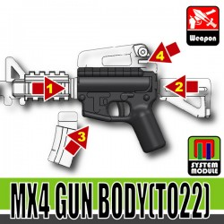 Lego Accessoires Minifigure Militaire Si-Dan Toys - MX4 Gun Body TO22 (Combat Black)