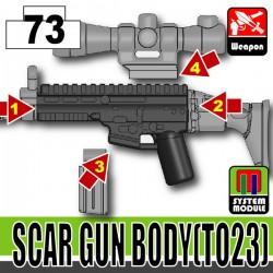 Lego Accessories Minifigure Military - Si-Dan Toys - SCAR Gun Body TO23 (Combat Black)