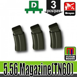 Lego Accessories Minifigure Military - Si-Dan Toys - 5.56 Magazine TN60 (Deep Gray Green)